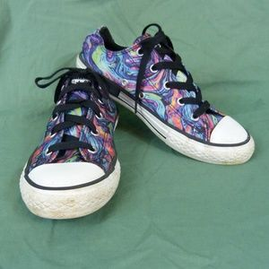 Converse Sz 3 Youth Shoes  Psychedelic Swirl Tie